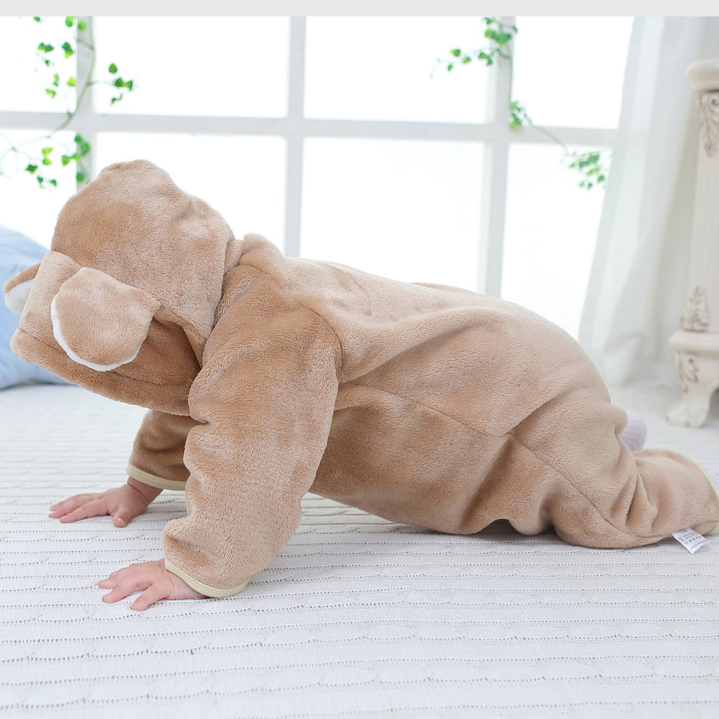 Winter Baby Boys Girls hooded  clothing 0-1 years old baby clothes Jumpsuit Outfits