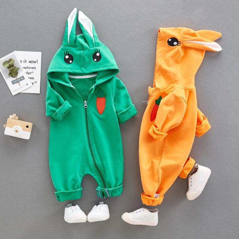 Autumn Baby Cartoon Cute  Long Sleeves  One-piece Jumpsuit Outfits