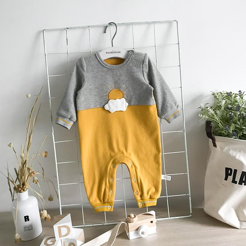 2018 Baby Girls Boys Long Sleeve Jumpsuit Baby Clothes Cartoon Jumpsuit