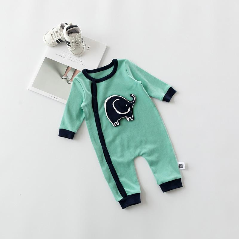 2018 Baby Girls Boys 1 Year Old Long Sleeve Cute Jumpsuit Baby Clothes Cartoon Jumpsuit