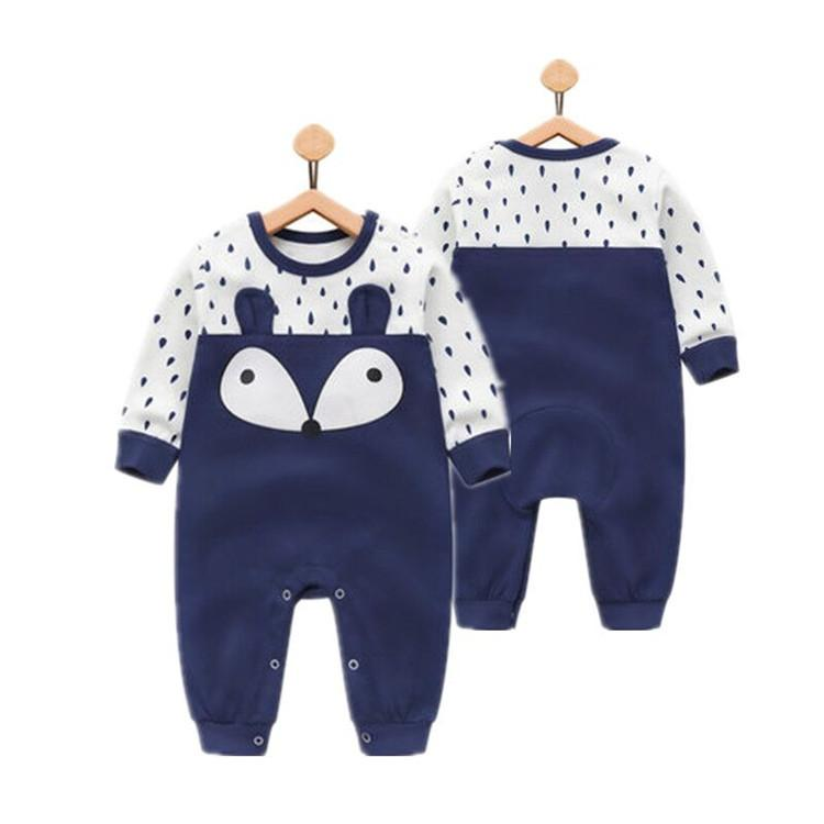 2018 Baby Girls Boys Long Sleeve Jumpsuit Baby Clothes Cartoon Jumpsuit Baby Climbing Clothes