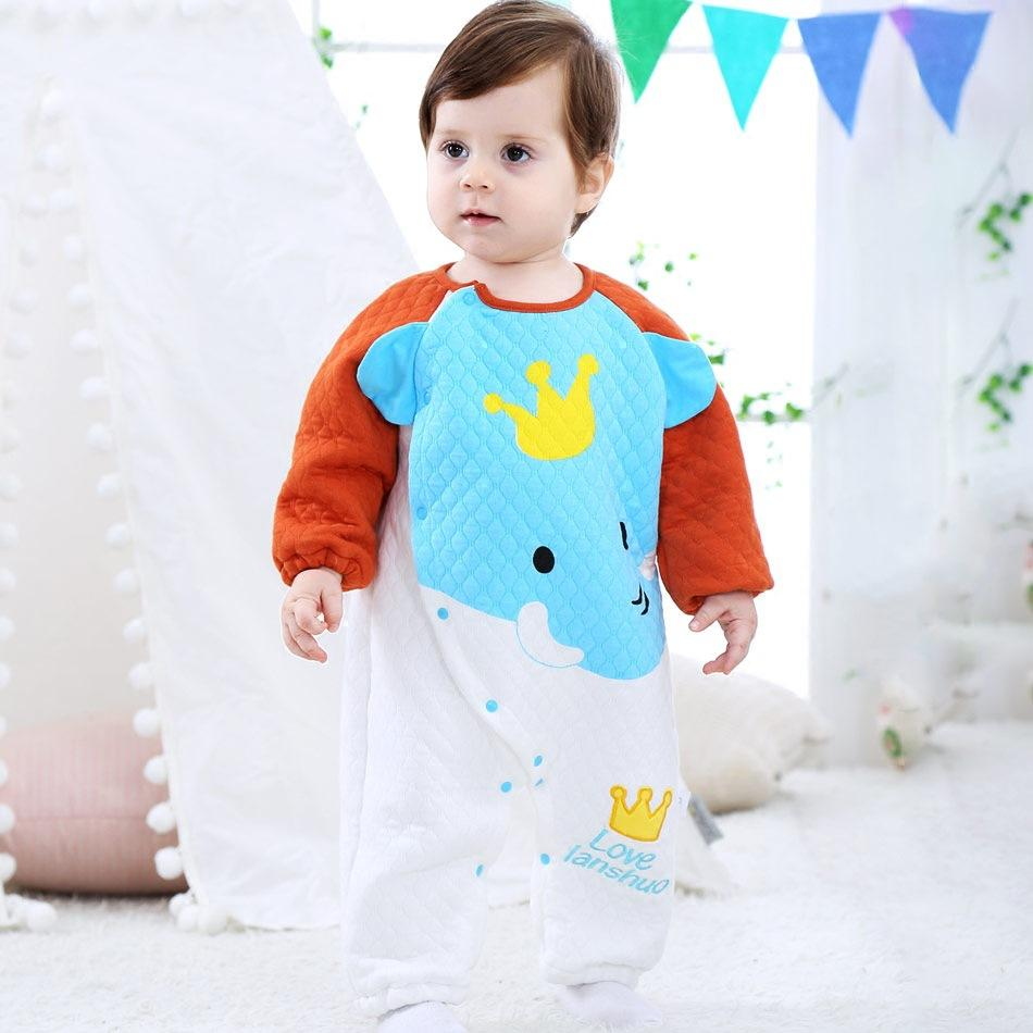Baby Girls Boys Siamese Warm  Cute Clothes Crawling Jumpsuit