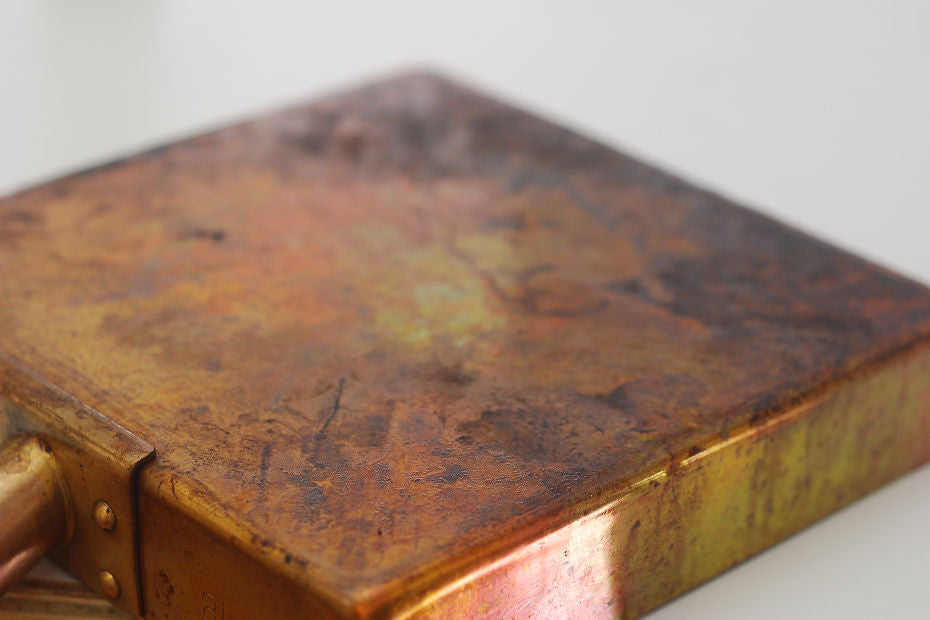 The surface of copper products is likely to oxidize and discolor over time.