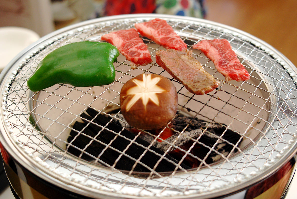 There are several shapes for Shichirin Grill. Round one is the most common.