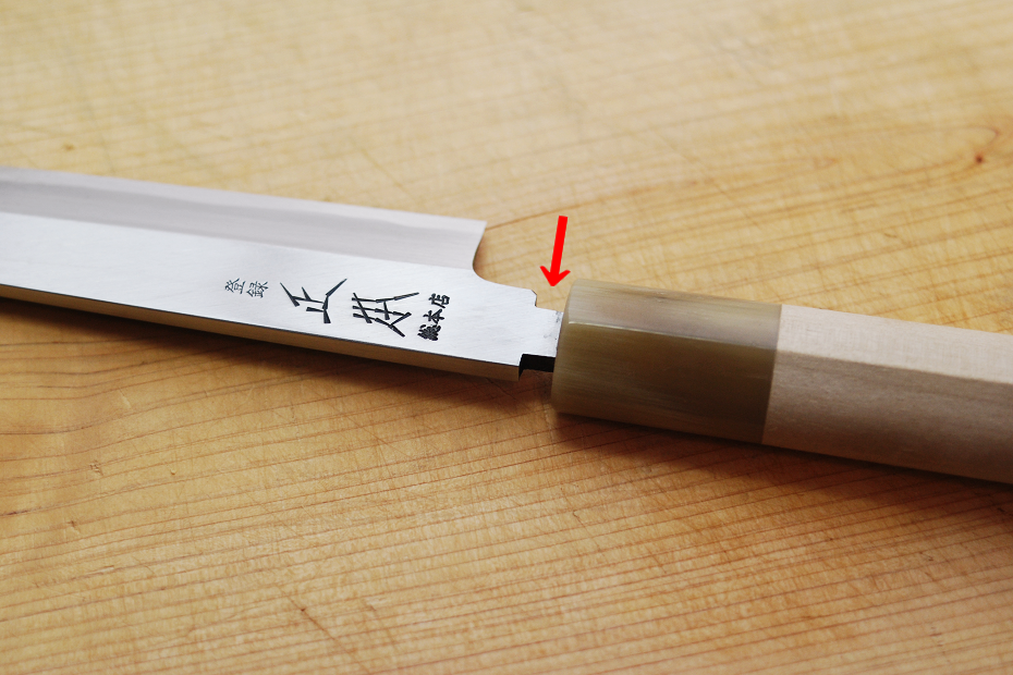 Machi is a joint or gap between the blade and handle.