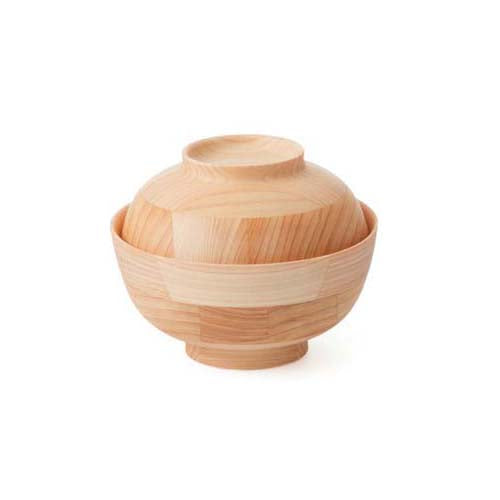 HIKIYOSE Wooden Soup Bowl with Lid