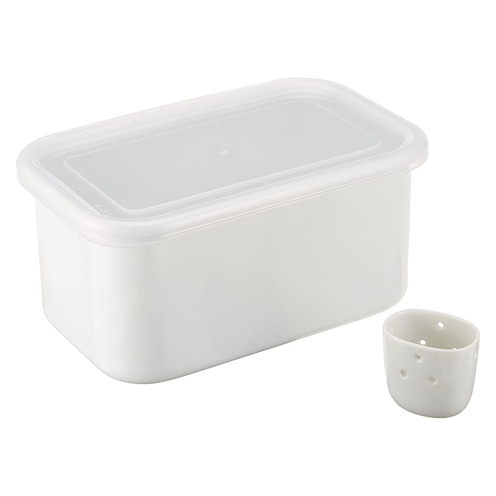 Noda Horo Enamelware Food Container for Nuka-Zuke Pickles 3.2L