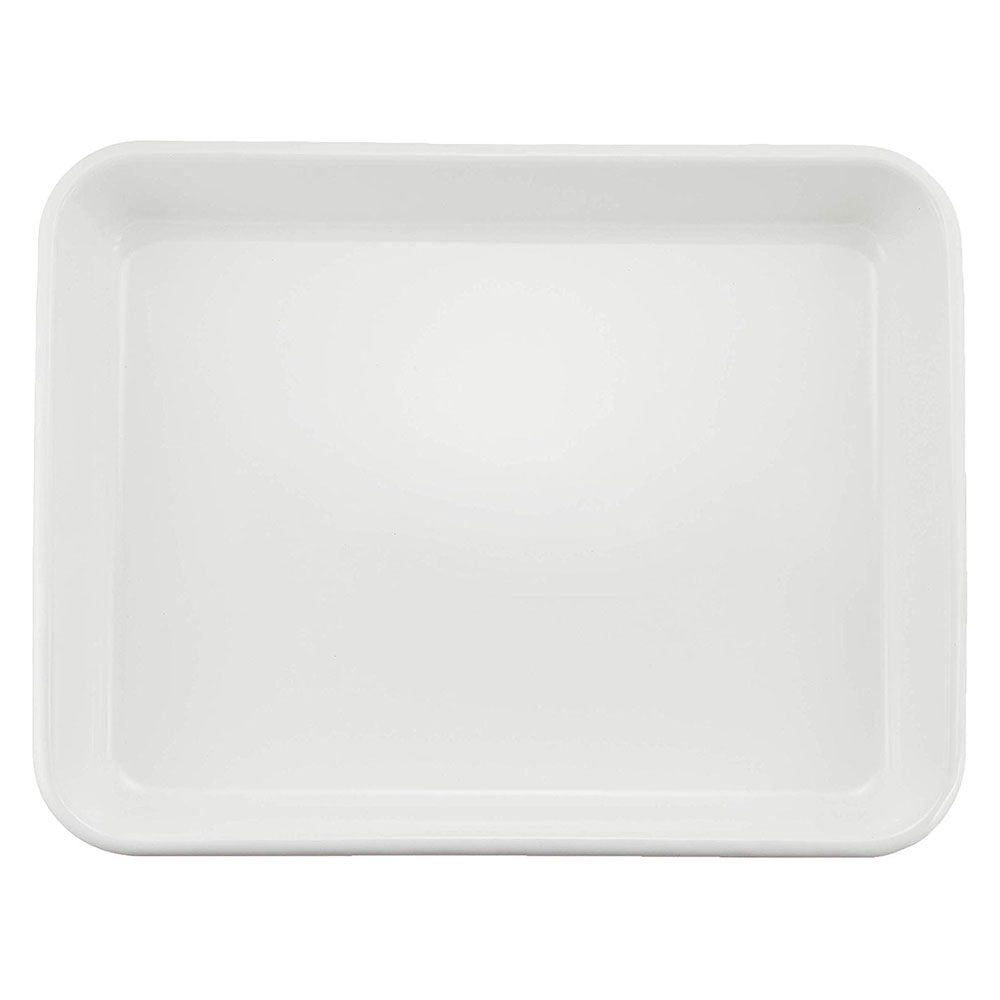 Noda Horo White Series Enamel Nestable Meal Prep BaKing Tray