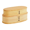 Odate Magewappa Yagura Two-Tier Bento Lunch Box