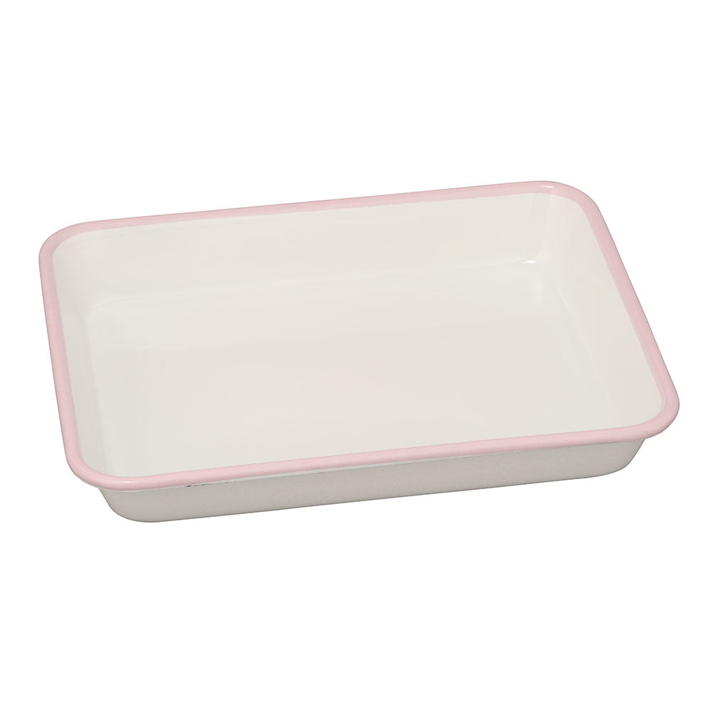 Noda Horo Enameled Nestable Meal Prep Baking Tray Pink