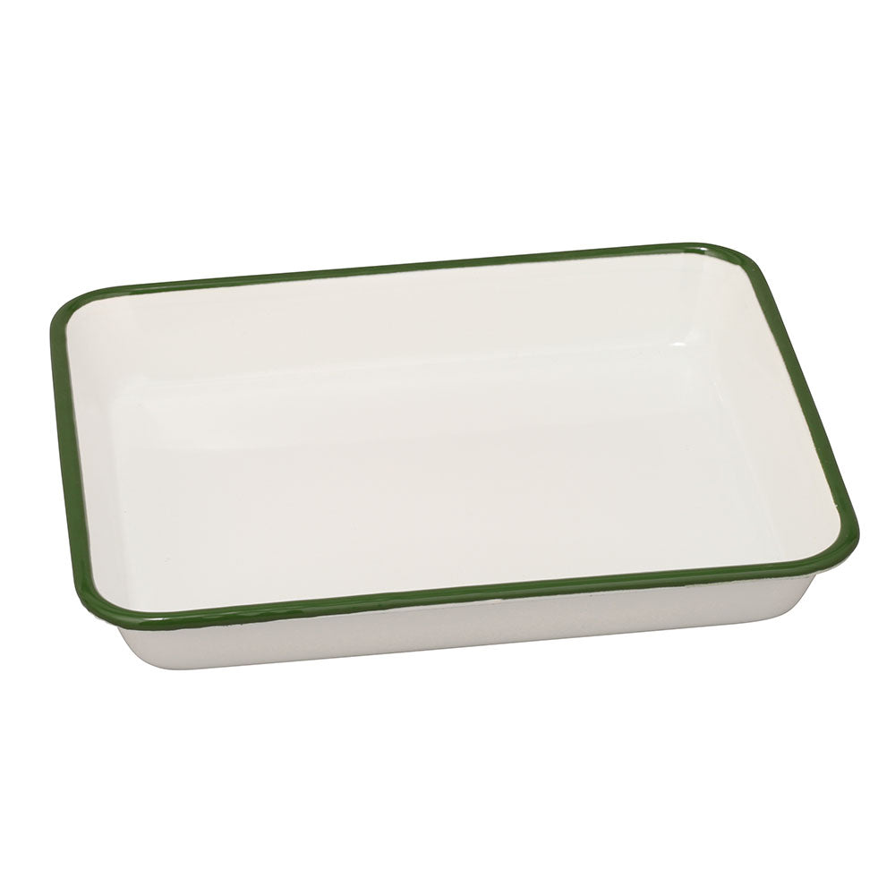 Noda Horo Enameled Nestable Meal Prep Baking Tray Green