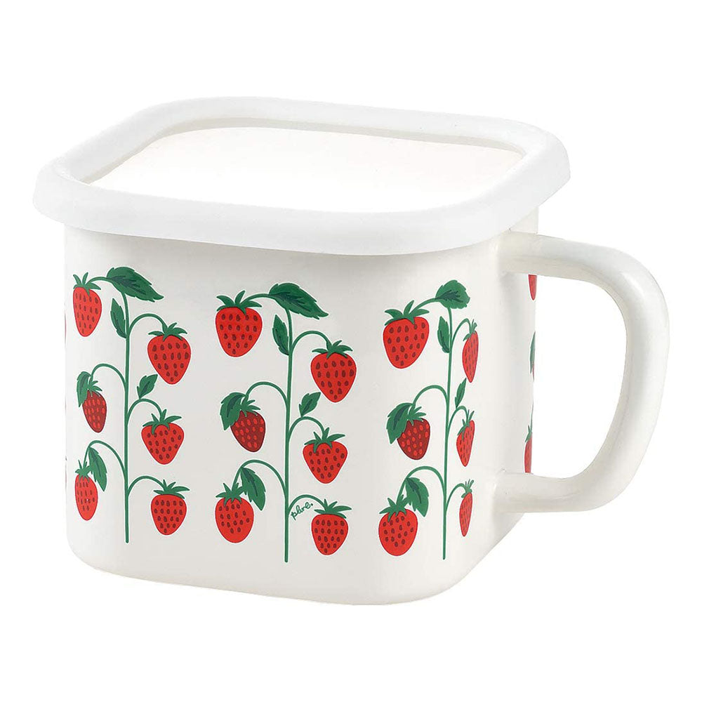 Yutaka Horo Enameled Multi Square Pot Strawberry