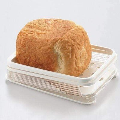 Akebono Freshly Baked Bread Slicer with Crumb Catcher Bread Slicers