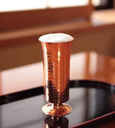 Asahi Copper Footed Small Glass 160ml Copper Drinkware