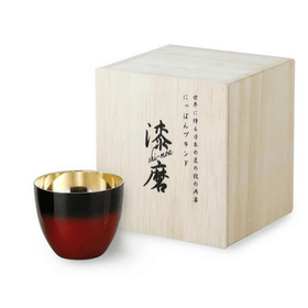 Asahi Shi-moa Urushi Lacquered by Arakawa Double-Wall Sake Cup 58ml (Gift-Boxed) (2 Colours) Black Stainless Steel Drinkware