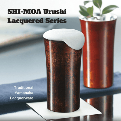 Asahi Shi-moa Yamanaka Urushi Lacquered Double-Wall Straight Sided Rocks Glass 250ml (Gift-Boxed) (2 Colours) Stainless Steel Drinkware