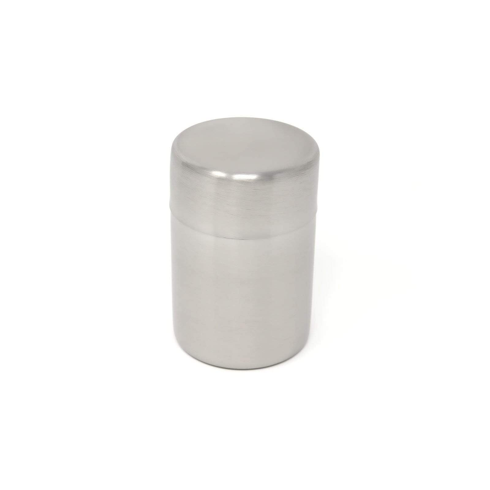 Asahi Stainless Steel Loose Tea Leaf Canister Chazutsu Tea Caddy 200ml with Caddy Spoon Canisters