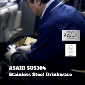 Asahi SUS304 Stainless Steel Double-Wall Round Glass 250ml Stainless Steel Drinkware