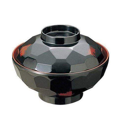 Entec Melamine Kikko-Pattern Miso Soup Bowl 340ml (2 Colours) Black / Bowl / Single Bowls