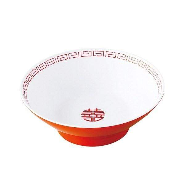 Entec Zuishou Melamine Double Happiness Ramen Noodle Bowl 670ml Bowls