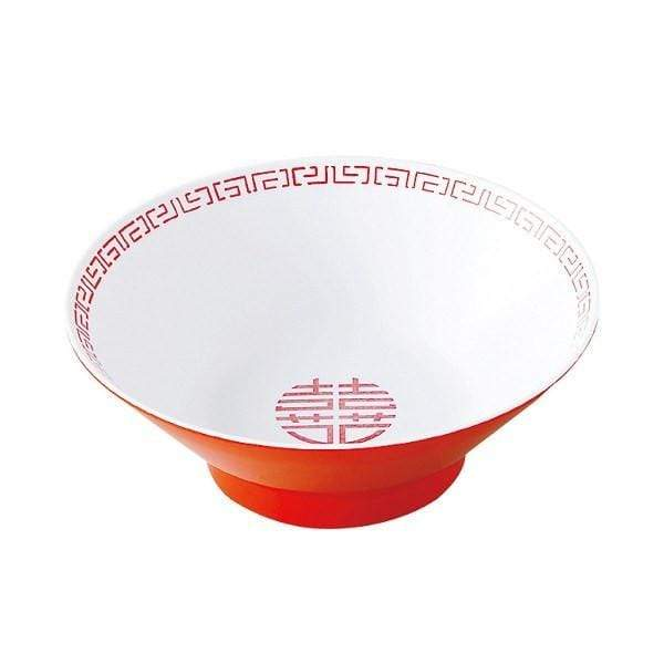 Entec Zuishou Melamine Double Happiness Ramen Noodle Bowl 920ml Bowls