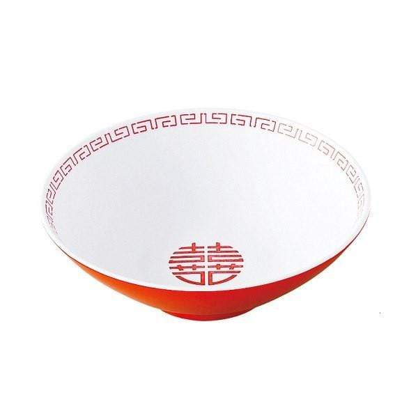 Entec Zuishou Melamine Double Happiness Ramen Noodle Bowl 940ml Bowls