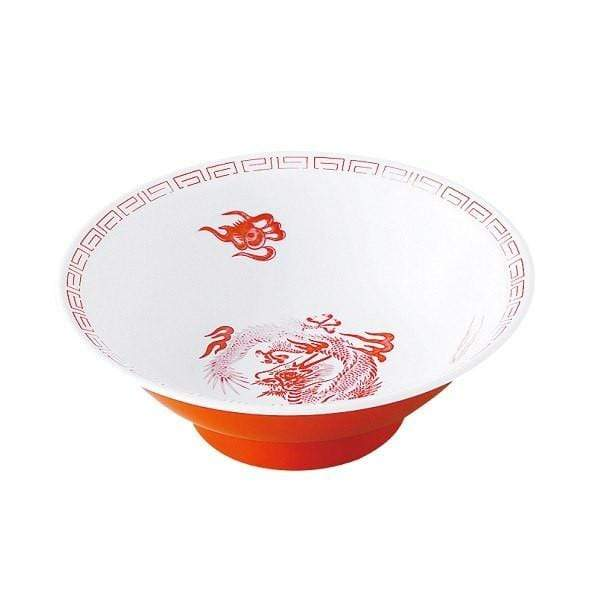 Entec Zuishou Melamine Red Dragon Ramen Noodle Bowl 940ml Bowls
