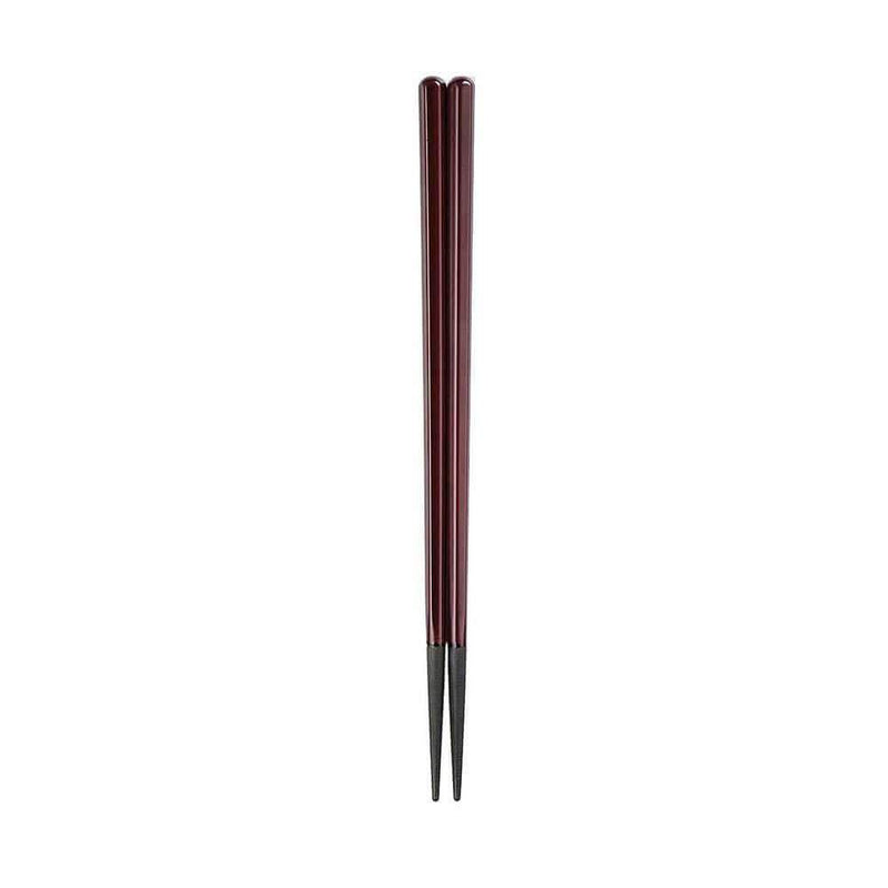 Fukui Craft PBT Resin Hexagonal Wood Grain Chopsticks 20.5cm / Scarlet Chopsticks