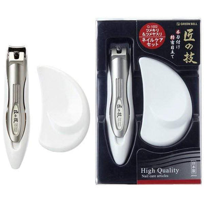 Green Bell Takuminowaza Nail Clipper with Catcher Nail File Set Nail Clippers