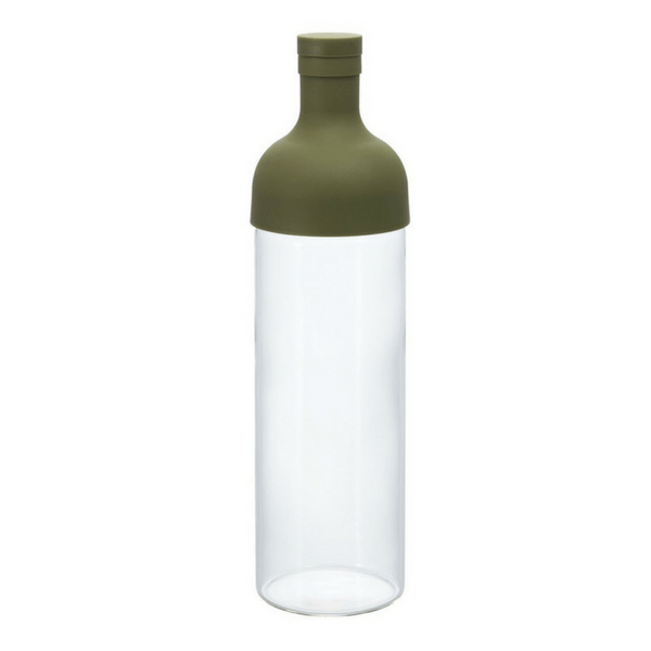 Hario Filter-In Bottle Heat Resistant Glass Iced Tea Brewer 0.75L Green Jugs