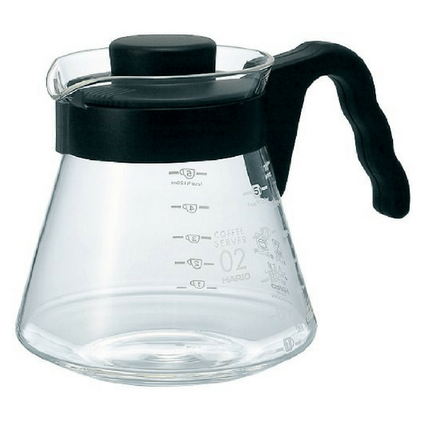 Hario V60 Heat Resistant Glass Coffee Server with Angled Handle VCS-01B (450ml) Coffee Carafes