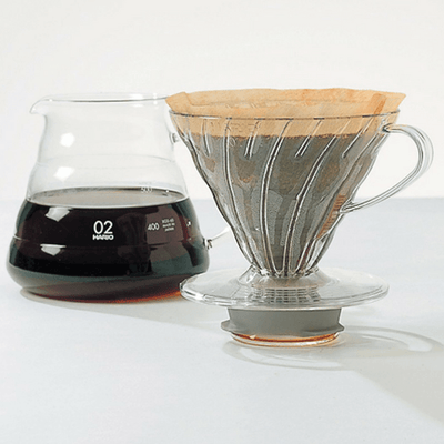 Hario V60 Heat Resistant Glass Coffee Server with Glass Lid & Handle Coffee Carafes