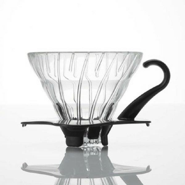 Hario V60 Pour Over Coffee Dripper with Coffee Scoop (Heat Resistant Glass) VDG-02 Coffee Filter Cones