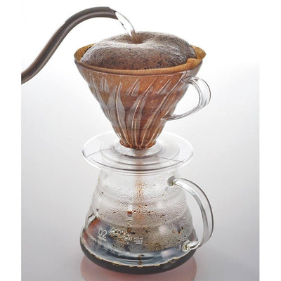 Hario V60 Pour Over Coffee Dripper with Coffee Scoop (Plastic) Coffee Filter Cones