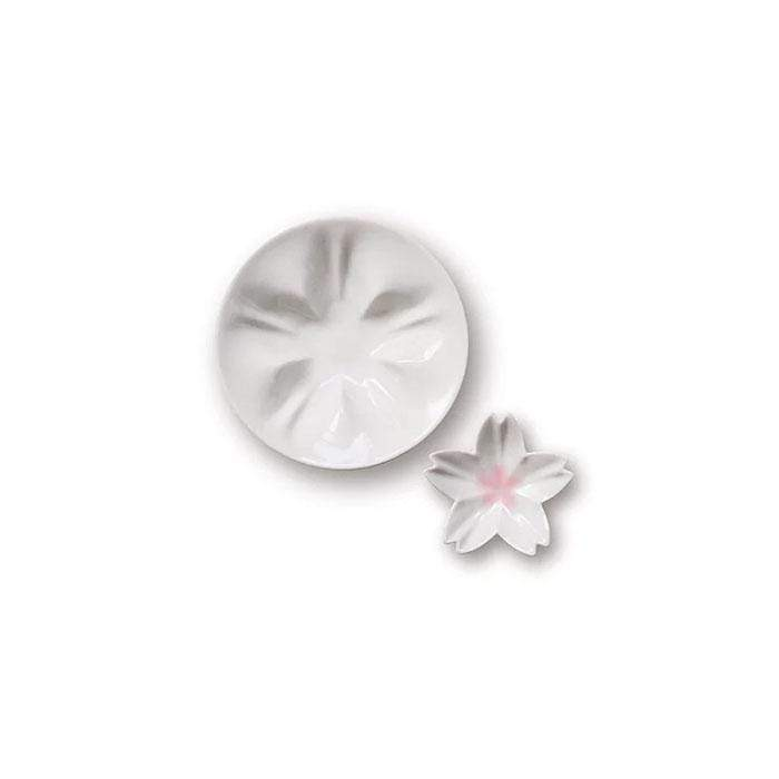 hiracle Sakura Porcelain Plates Set (3 Colours) White 1pc Plates