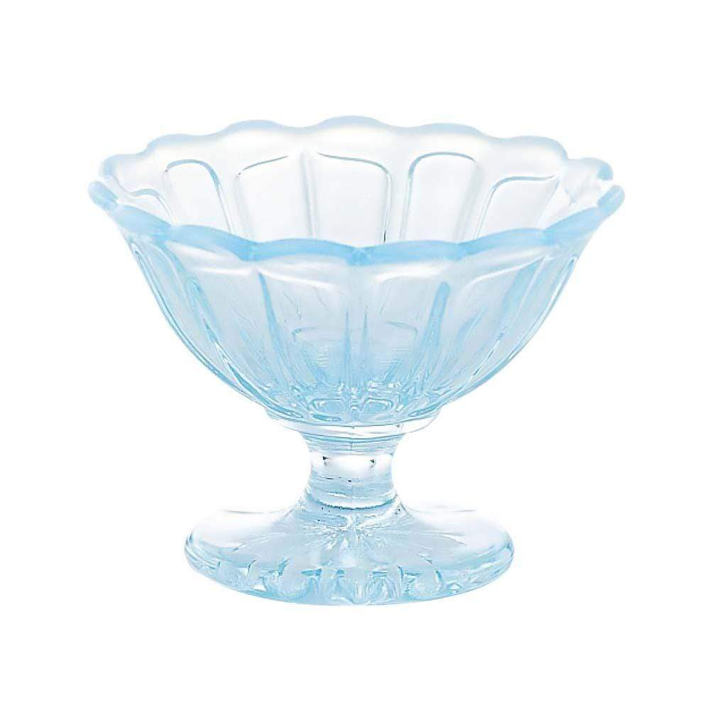 Hirota Glass YUKINOHANA Mini Ice Cream Bowl Blue Dessert Bowls