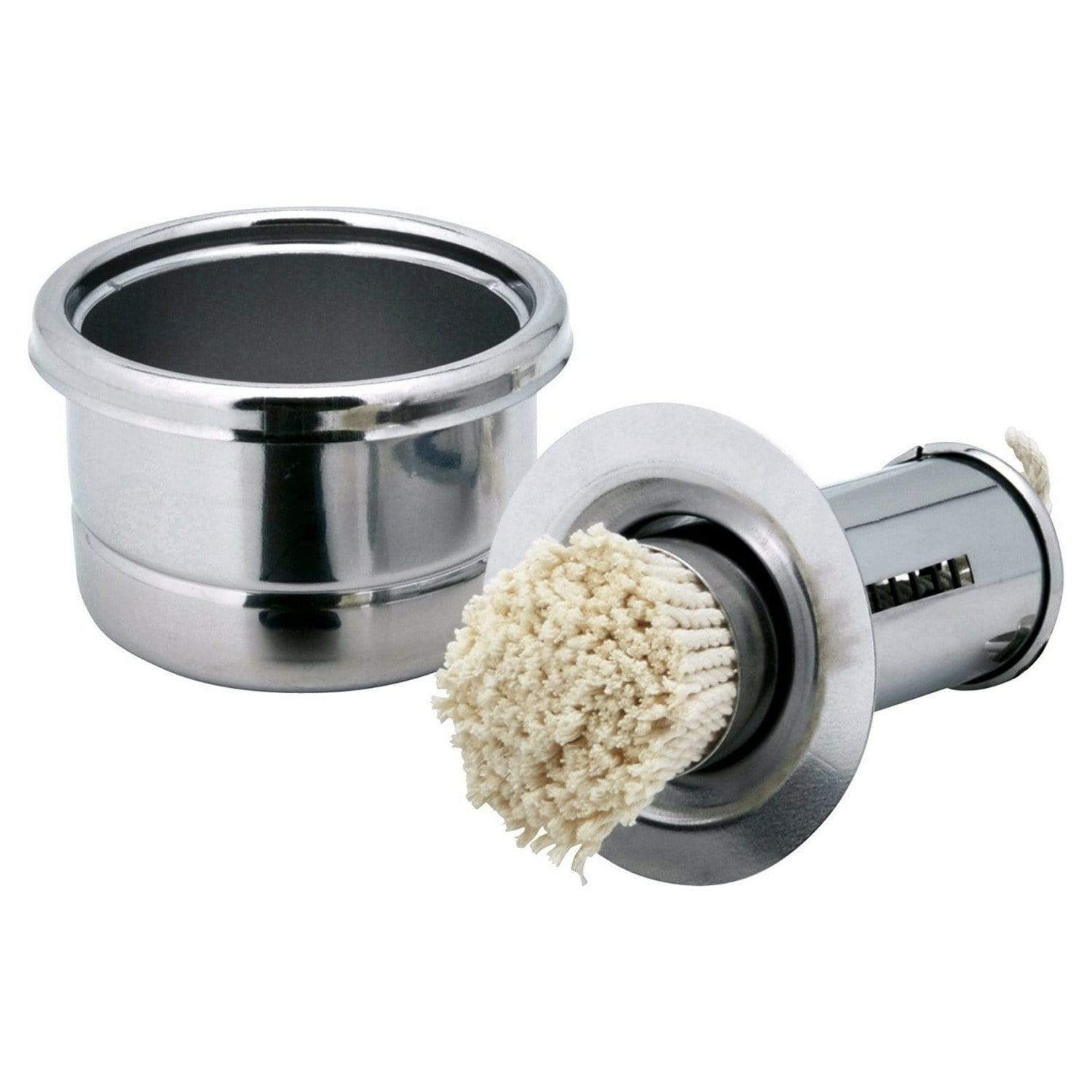 Ichibishi Stainless Steel Takoyaki Basting Mop Oil Dispenser with Removable Cotton Head Small Basting Mops