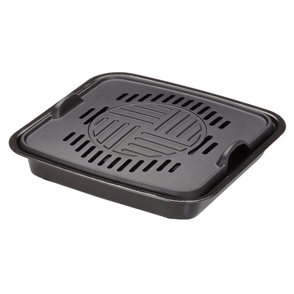 Ikenaga Cast-Iron Yakiniku Barbecue Griddle Water Pan for Portable Gas Stove Grill Pans