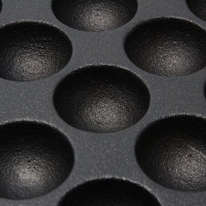 Ikenaga Induction Cast-Iron 16-Ball Takoyaki Pan ...