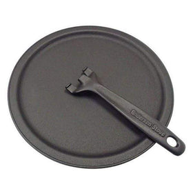Iwachu Induction Cast-Iron Pizza Pan with Removable Handle Griddles