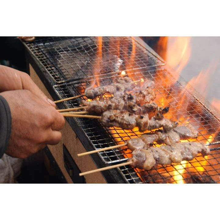 Kaginushi Charcoal BBQ Konro Grill Wide With Mesh Net - Extra Large Tabletop Grills