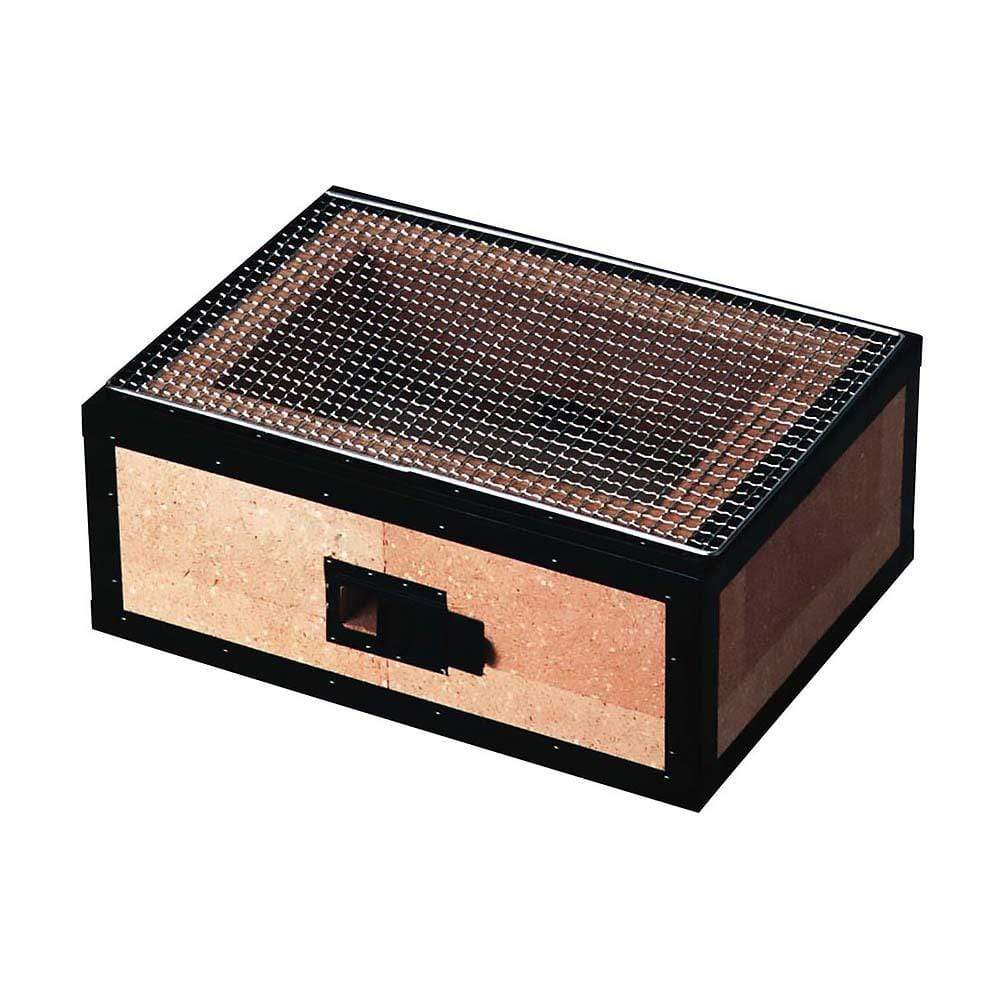 Kaginushi Charcoal BBQ Konro Grill Wide With Mesh Net - Medium Tabletop Grills