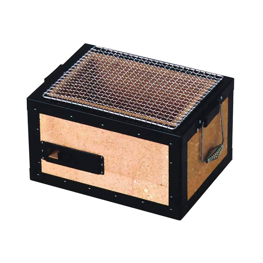 Kaginushi Charcoal Konro Grill With Mesh Net - Small Tabletop Grills