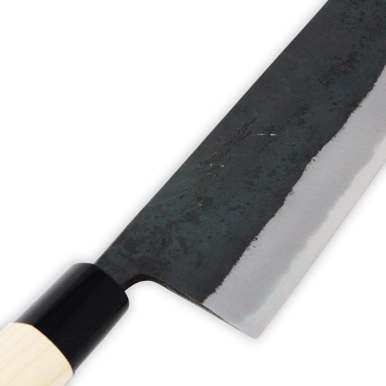 KANEMATSU Nihonko Kasumitogi Shirogami Carbon Steel Nakiri Knife 165mm Nakiri Knives