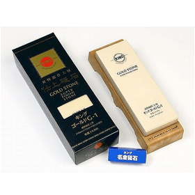 King Finishing Stone with Base & Nagura G-1 - Grit 8000 Sharpening Stones