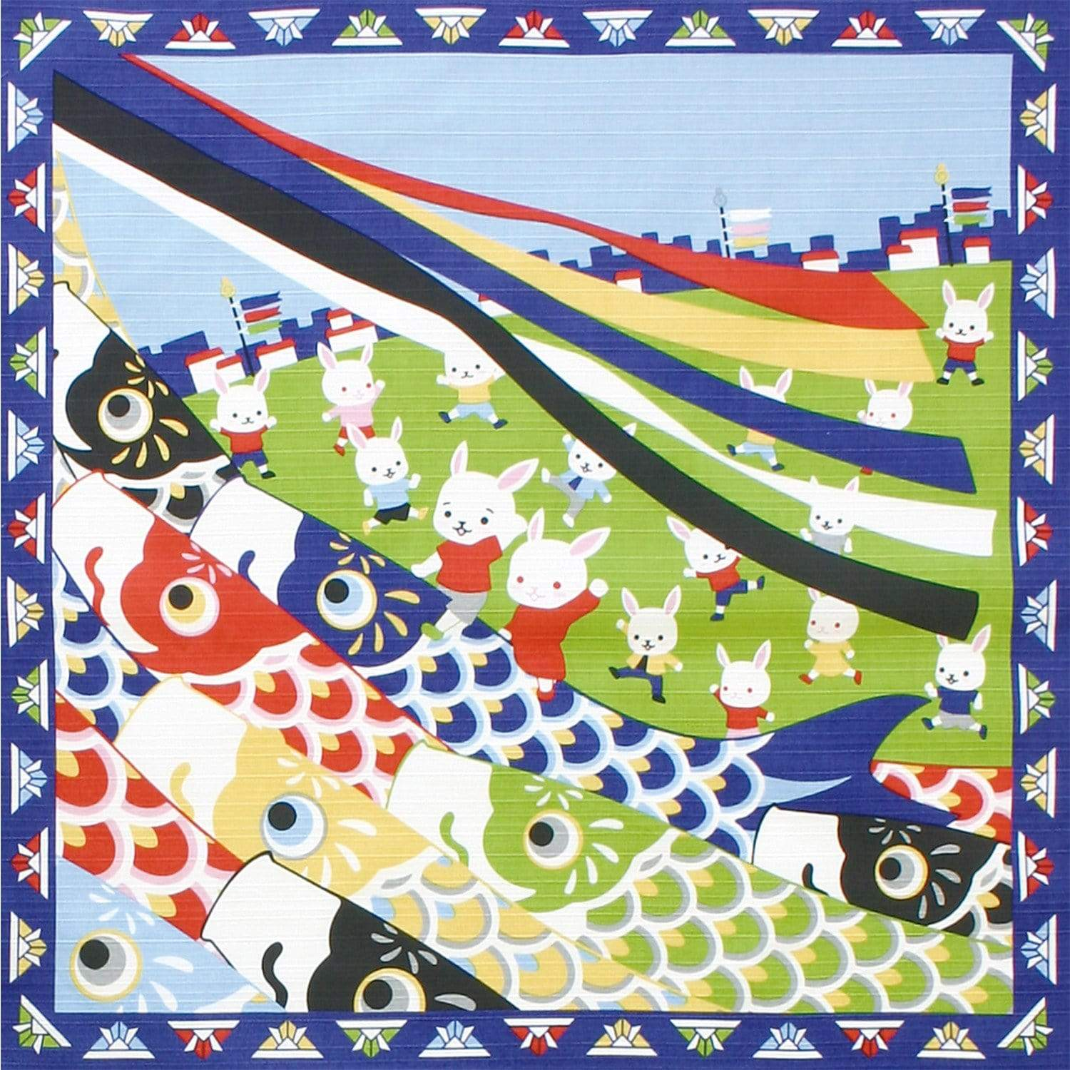Maeda Senko Cotton Furoshiki Bento Lunch Cloth Day for Children Furoshikis