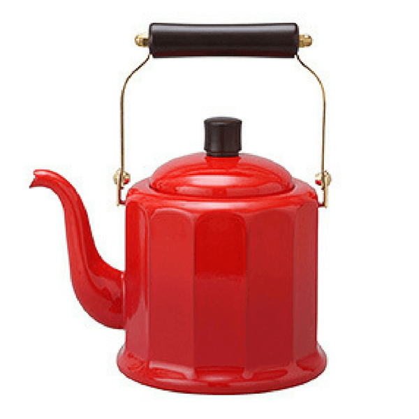 Noda Horo Enamelware Induction Dodecagonal Classic Kettle (3 Colours) Red Kettles