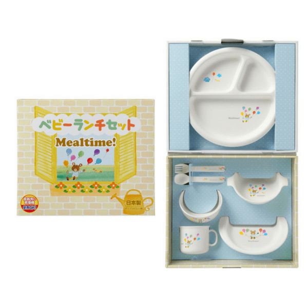 OSK Mealtime Baby Toddler Plastic Unbreakable Dinnerware Set (Gift-Boxed) Plates