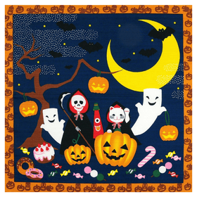 [sale for clearance] Maeda Senko Cotton Furoshiki Bento Lunch Cloth (Halloween) Furoshikis