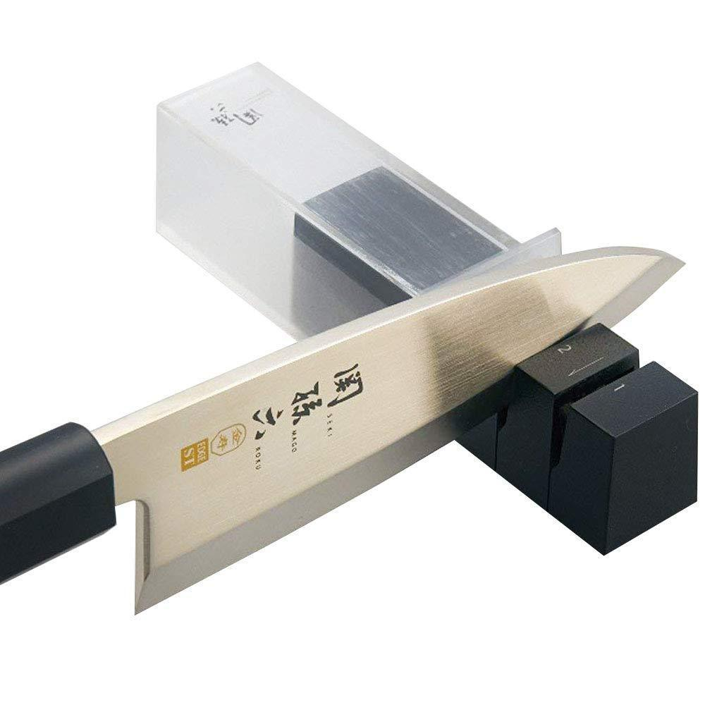 Seki Magoroku Diamond and Ceramic Sharpener (Single edged blade) -  Globalkitchen Japan